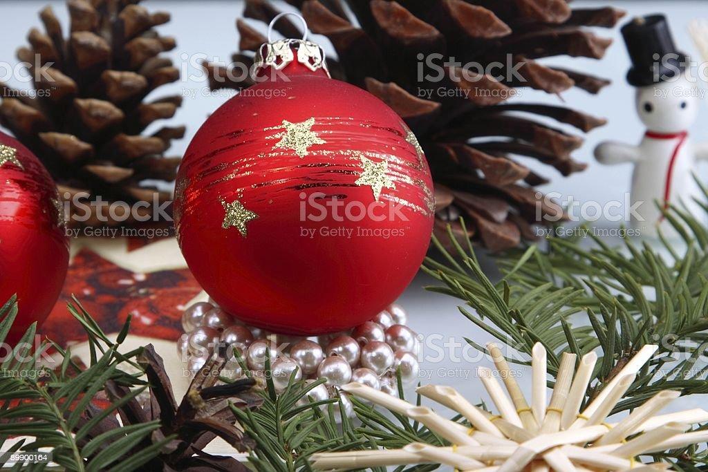 Red Christmas Globe royalty-free stock photo