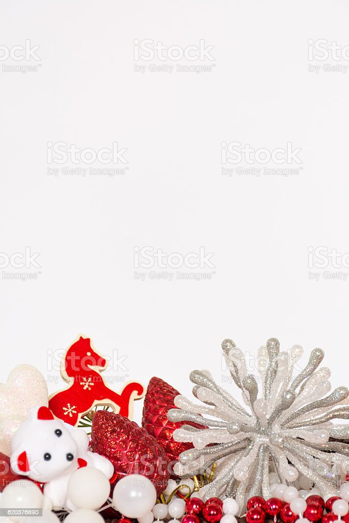 Red christmas greeting card foto de stock royalty-free
