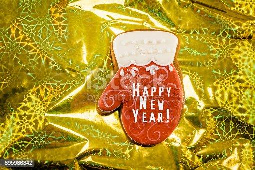 1056829102 istock photo Red christmas mitten 895986342