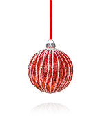 istock Red Christmas Ornament 1184841364