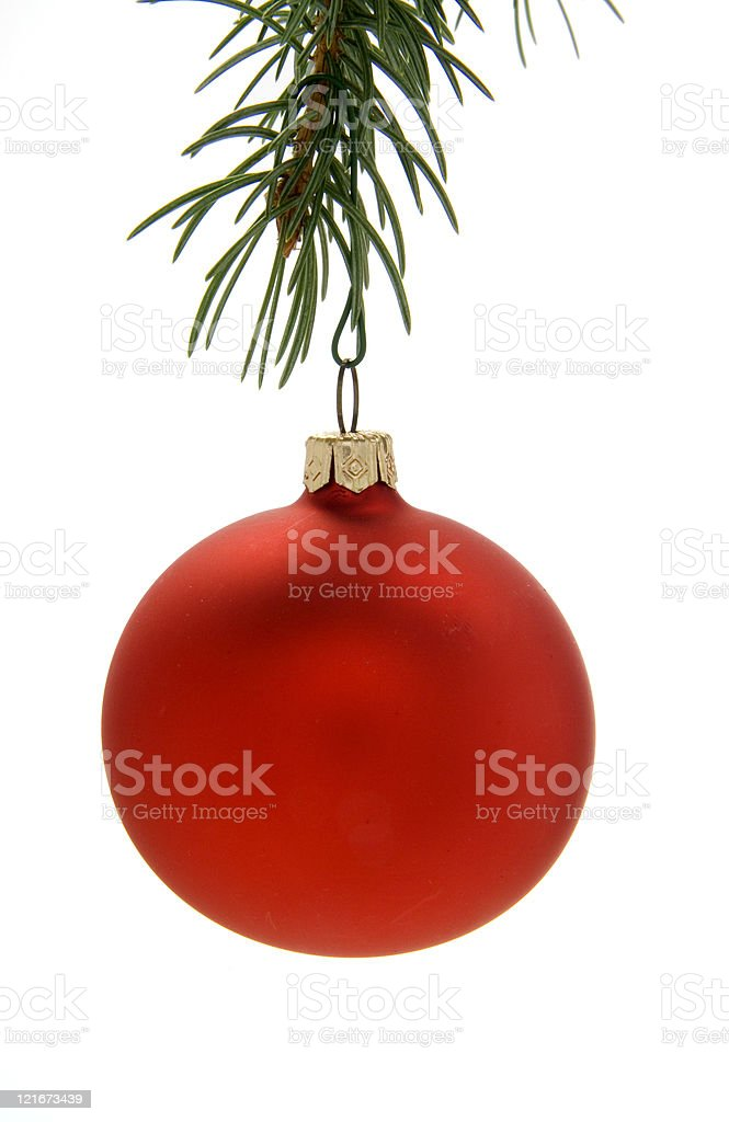 Red Christmas Ornament stock photo