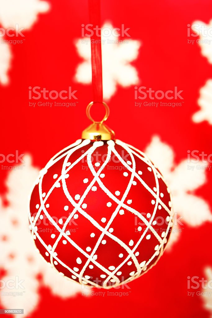 Red Christmas Ornament royalty-free stock photo