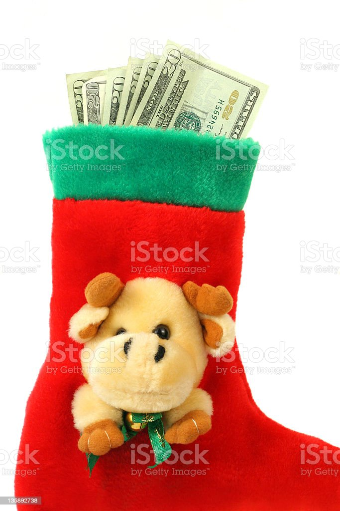 Red christmas sock royalty-free stock photo