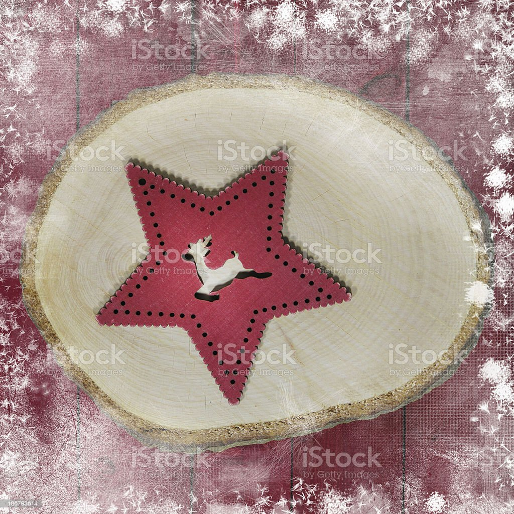 Red Christmas star royalty-free stock photo