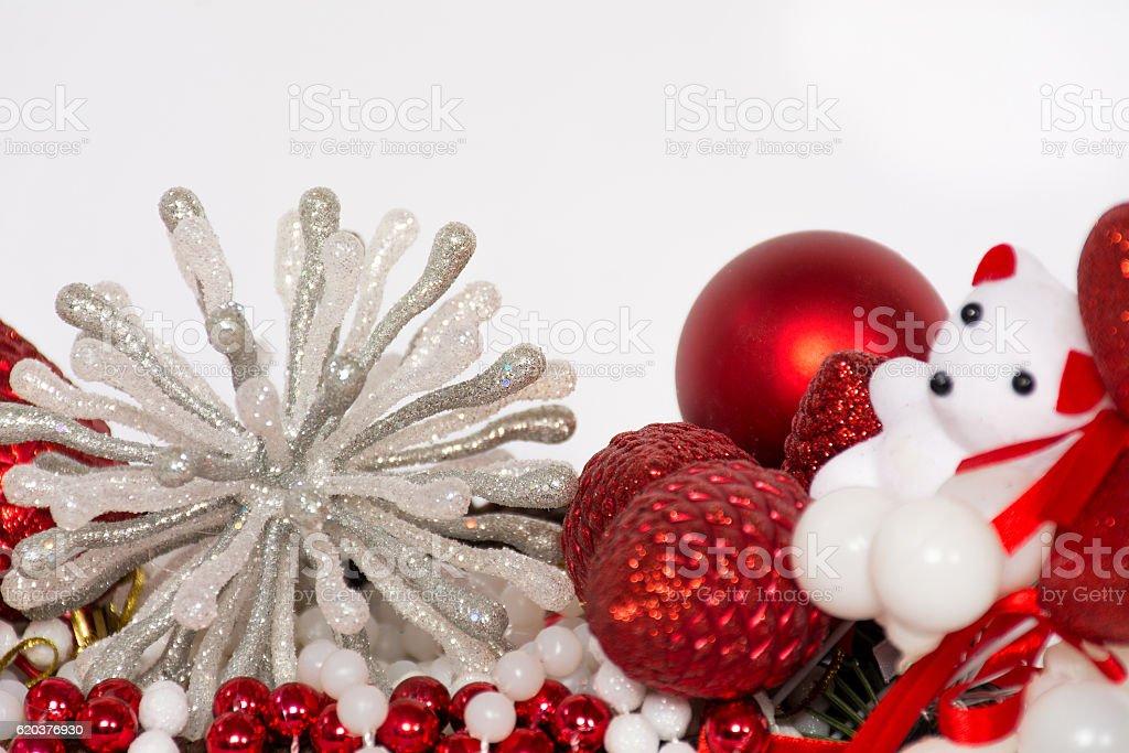 Decoração de mesa de Natal vermelho foto de stock royalty-free