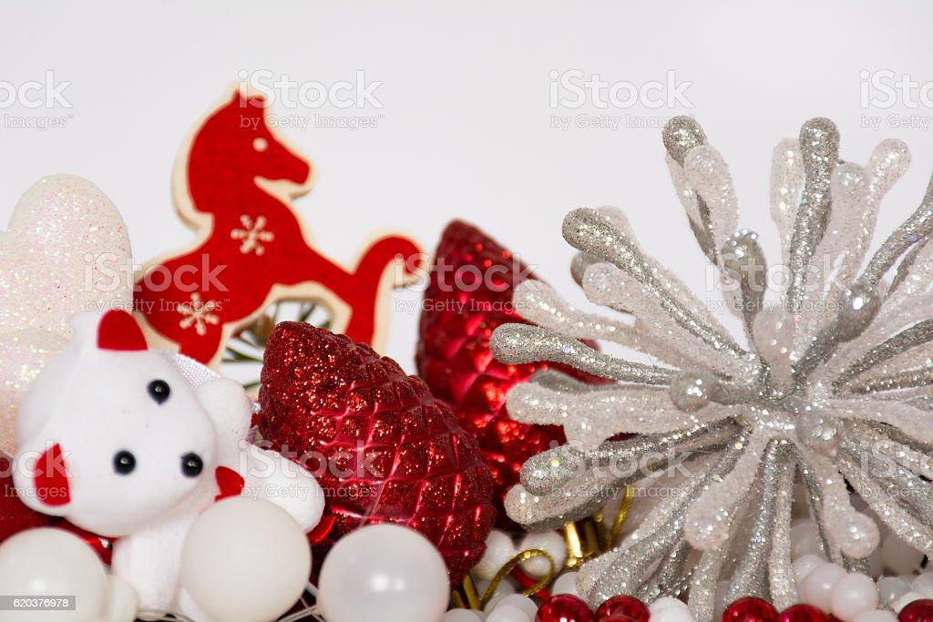 Red christmas tabeli Dekoracja zbiór zdjęć royalty-free