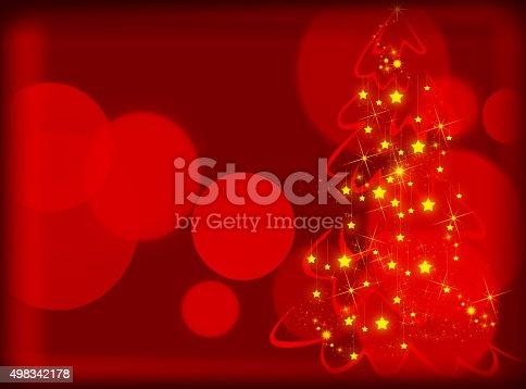 1020742072istockphoto Red Christmas tree background 498342178