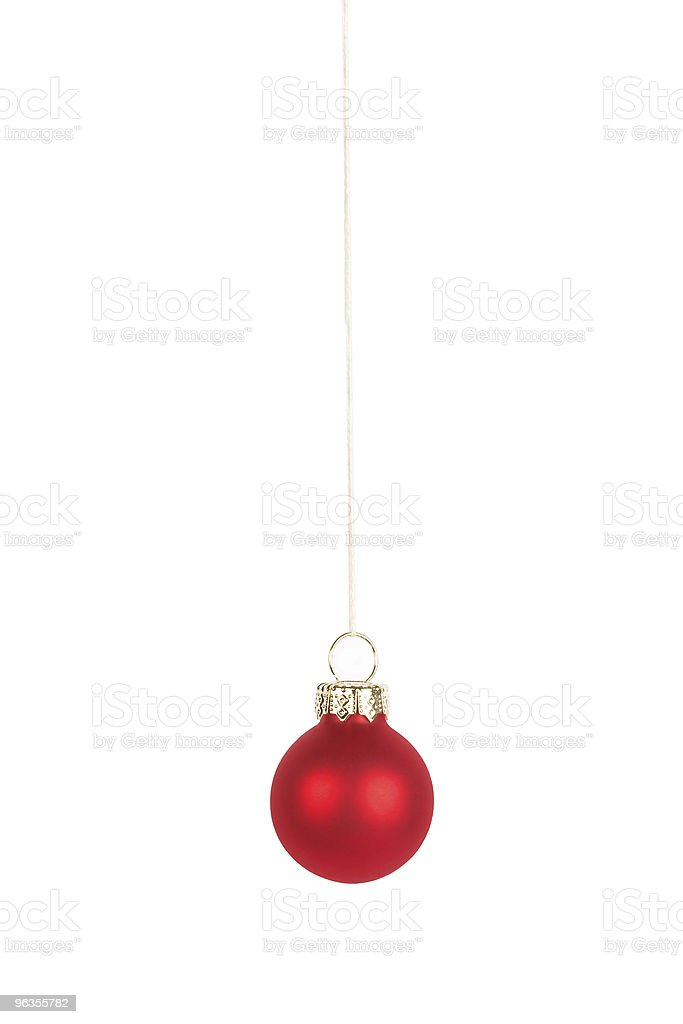 Red Christmas tree ball, isolated royalty-free stock photo