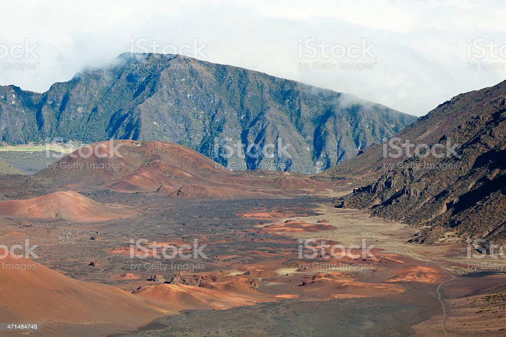 Red Cinder Cones In Haleakala Crater, Maui royalty-free stock photo