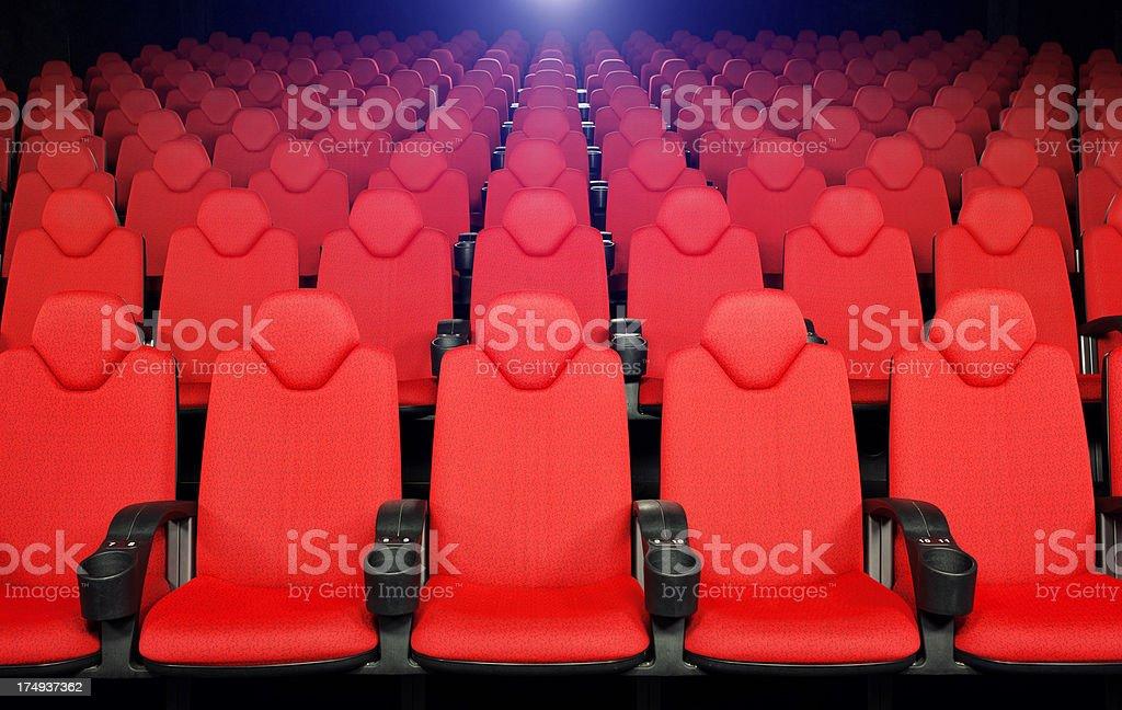 red Cinema hall seats royalty-free stock photo