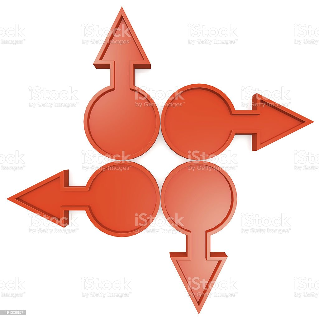 Red circle arrows royalty-free stock photo