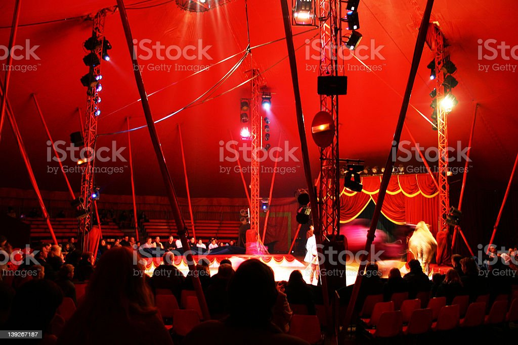 Red circus ! stock photo
