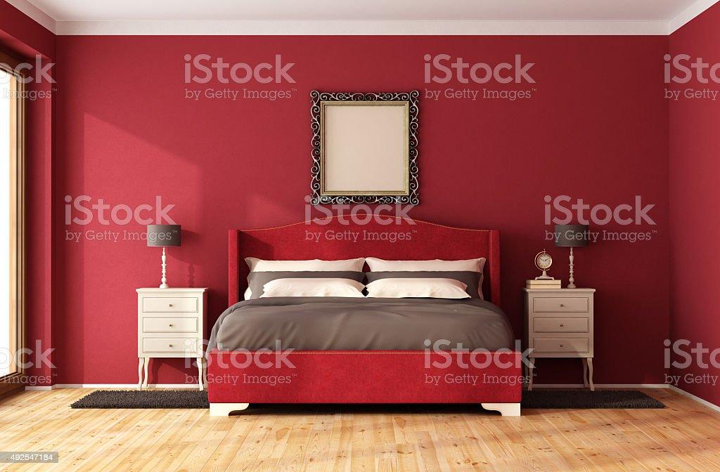 Rotes Classic Schlafzimmer Stockfoto und mehr Bilder von ...