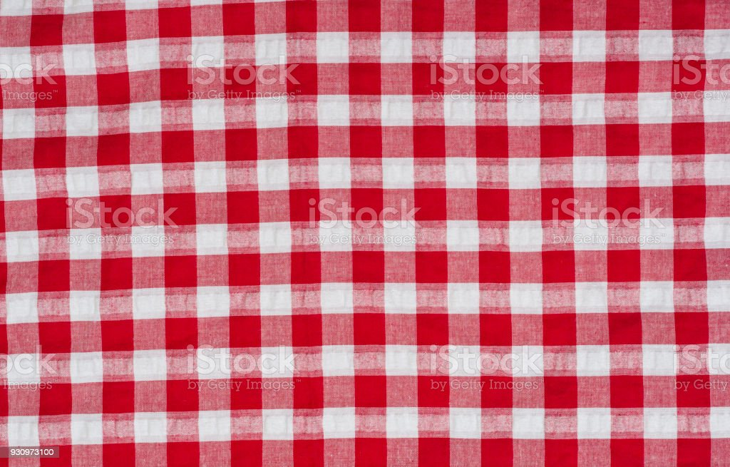 Superieur Red Classic Checkered Tablecloth Background With Copy Space Stock Photo    Download Image Now