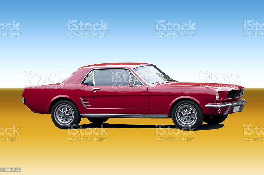 Red classic sport car stock photo