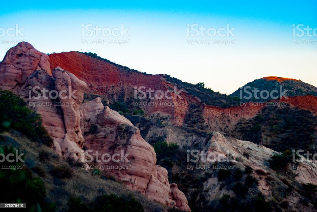 Red cliffs at Red Rock Canyon stock photo