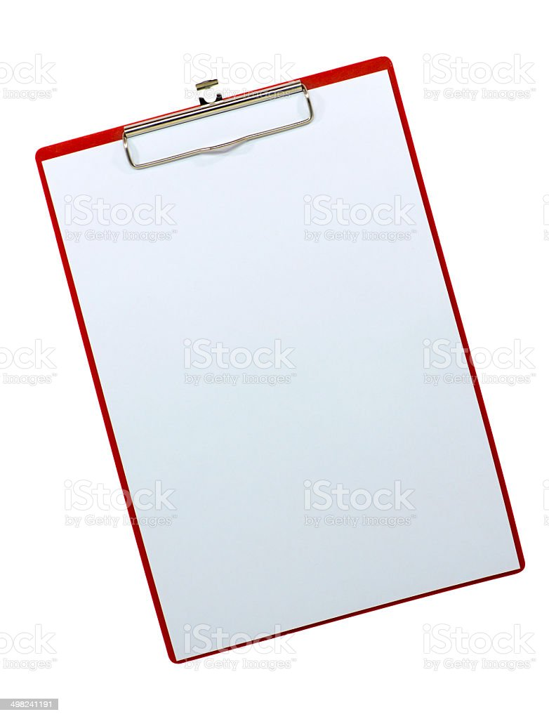 Red clipboard. royalty-free stock photo