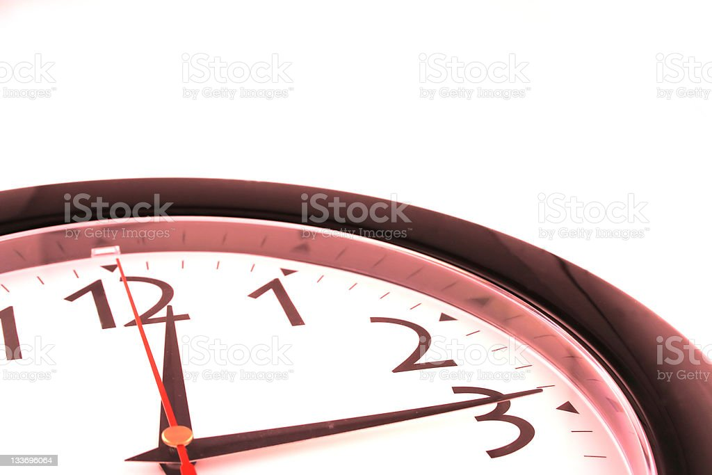 Red Clock royalty-free stock photo
