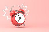 istock Red clock ringing 1279516444