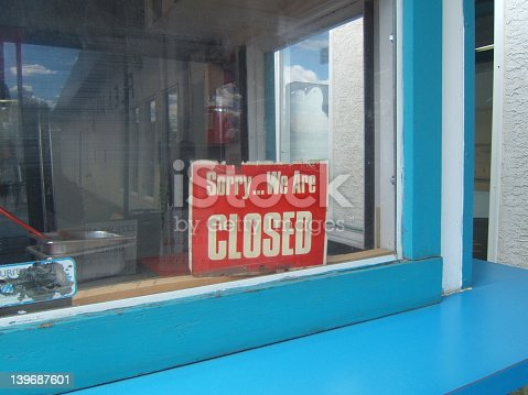 bankrupt business sign...sorry we are closed