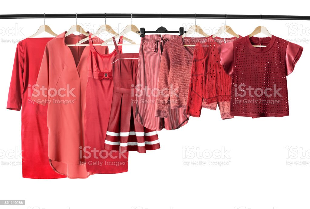 Red clothes isolated royalty-free stock photo