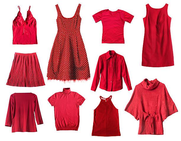 rote kleidung - rotes oberteil stock-fotos und bilder