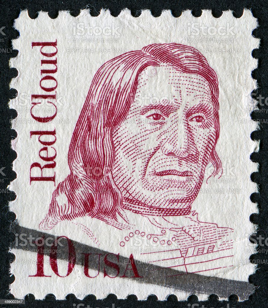 Red Cloud Stamp royalty-free stock photo