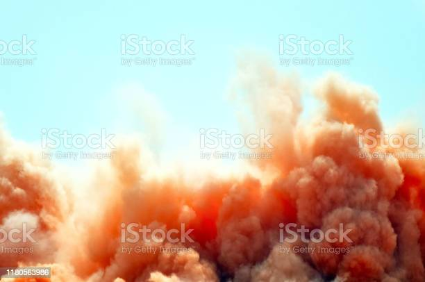 Photo of Red clouds of the dust