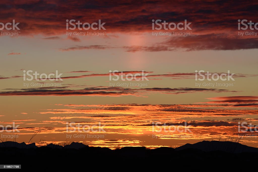 Red Clouds stock photo