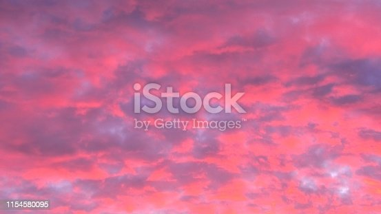 close up zoom in on red urban sunset with copy space. Sunset cloudscape background.