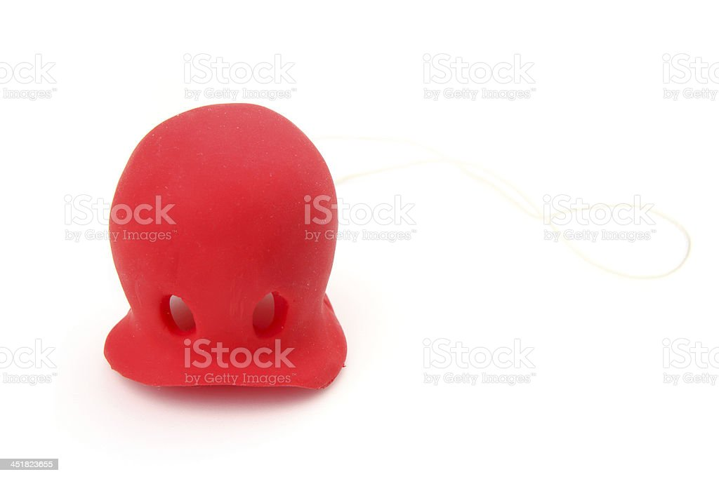 Red clown's nose stock photo