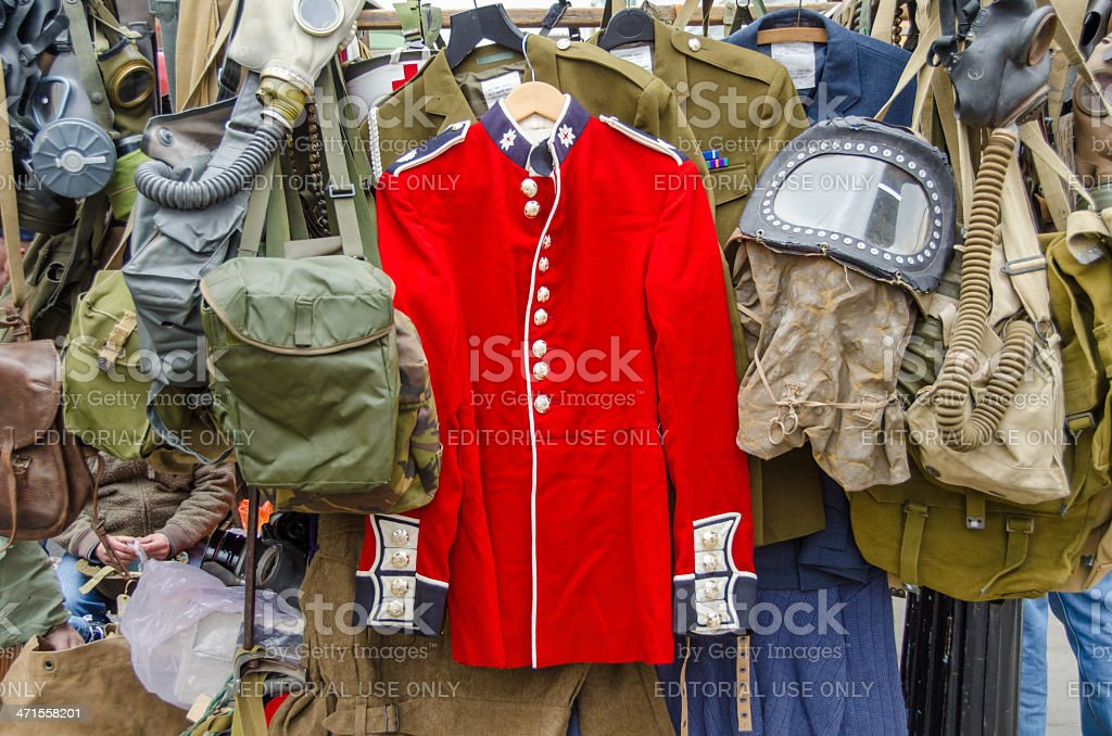 Red coat: scarlet tunic uniform royalty-free stock photo