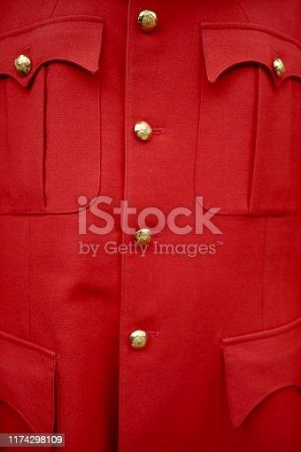 Red jacket uniform