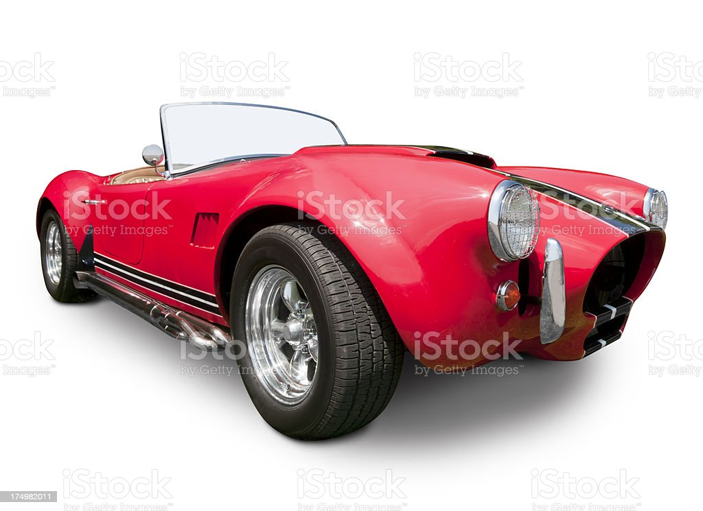 Red Cobra Roadster stock photo