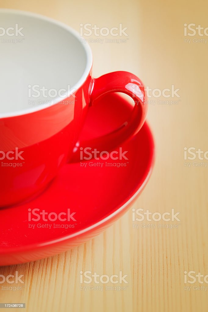 Red coffee cup royalty-free stock photo