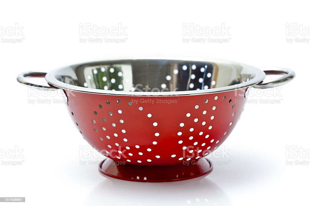 Red Colander stock photo