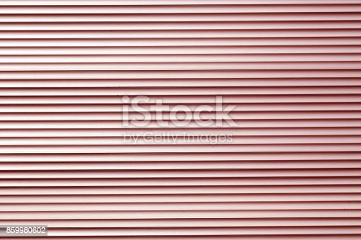 istock Red color metal warehouse wall pattern. 859980602