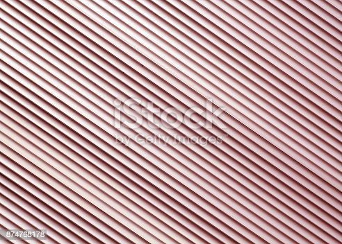 istock Red color metal warehouse wall pattern. 874768178