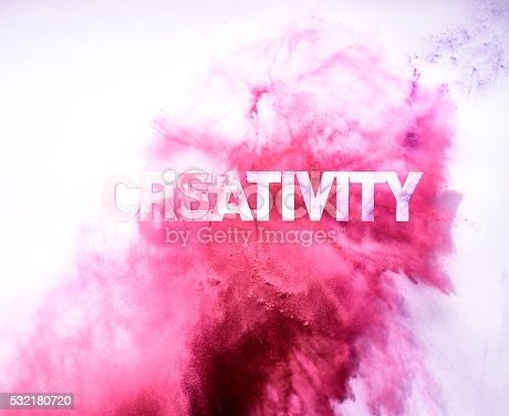 istock Red Colored Creativity blast 532180720