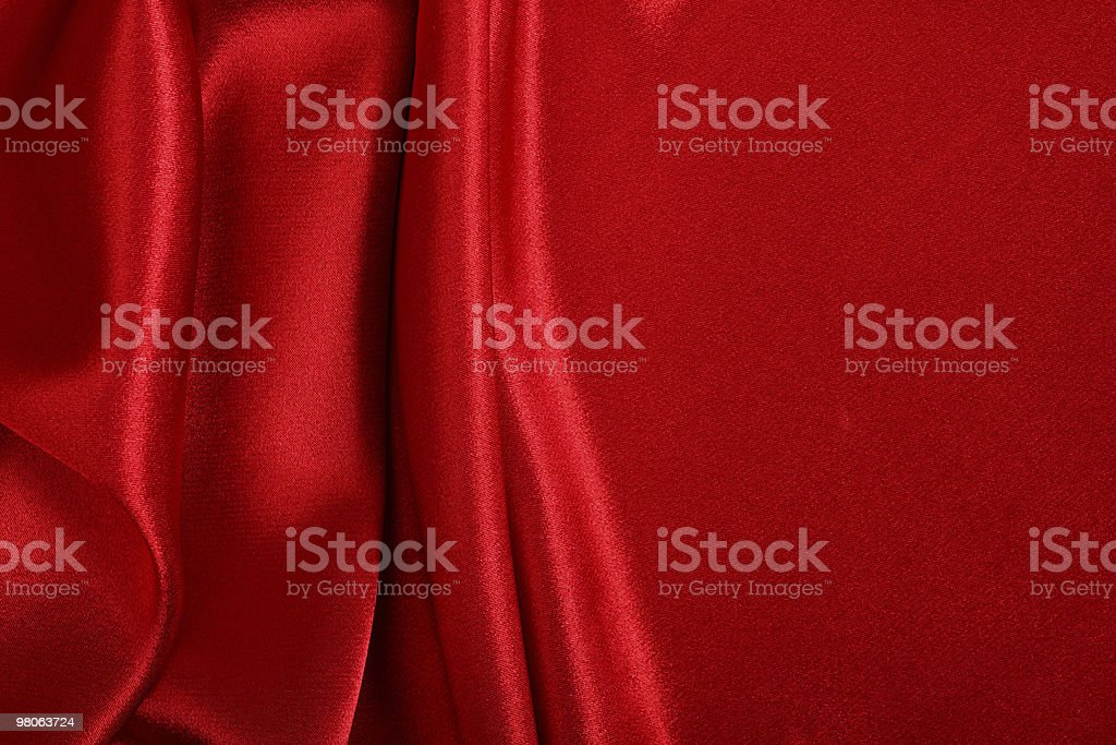 Red colored satin fabric background royalty-free stock photo