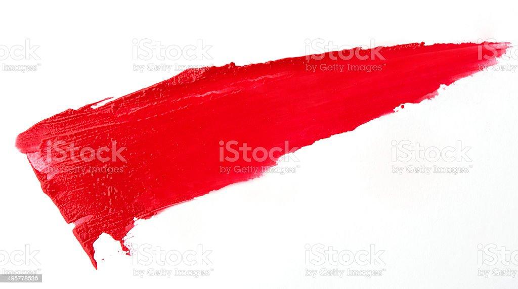 Rotem Lippenstift Schlaganfall auf white paper – Foto