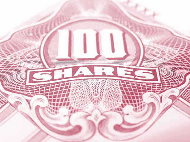 Red common stock certificate  debenture stock pictures, royalty-free photos & images