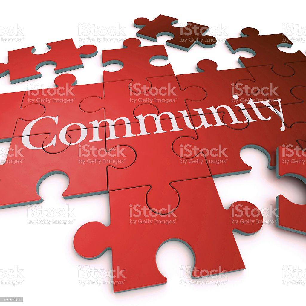 Red Community puzzle royalty-free stock photo