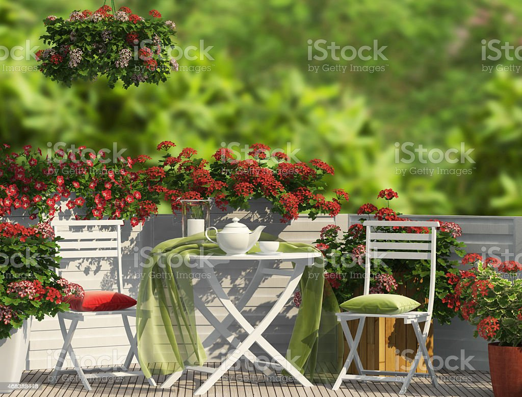 Red composition sur le balcon - Photo