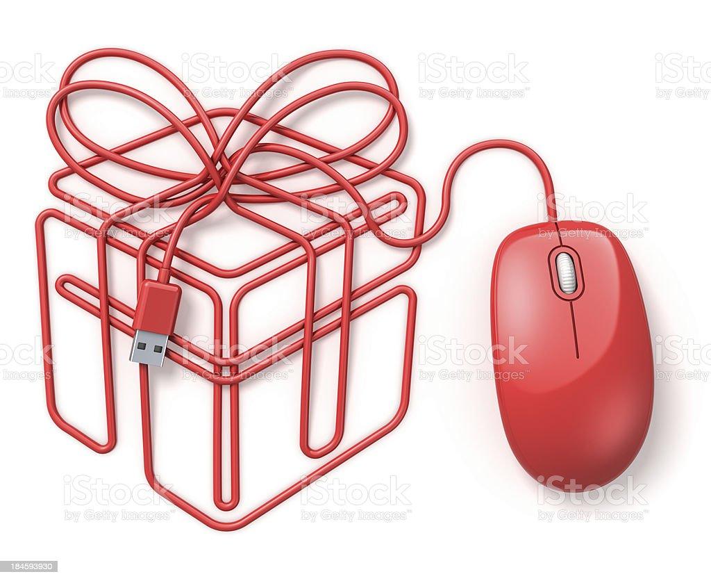 Rote computer-Maus-box – Foto