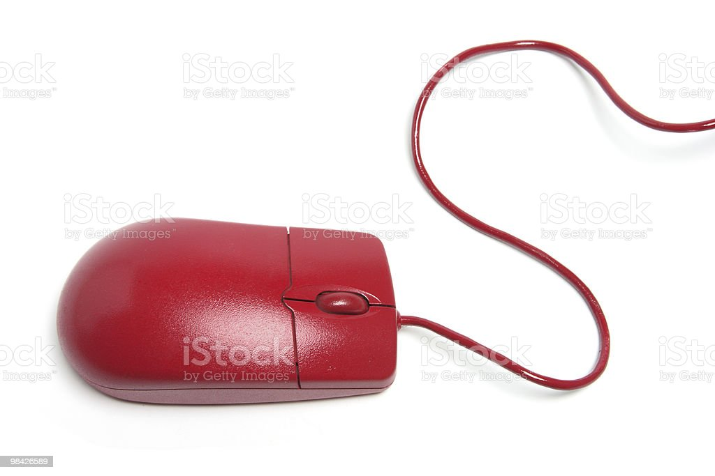 Red Computer Mouse royalty-free stock photo
