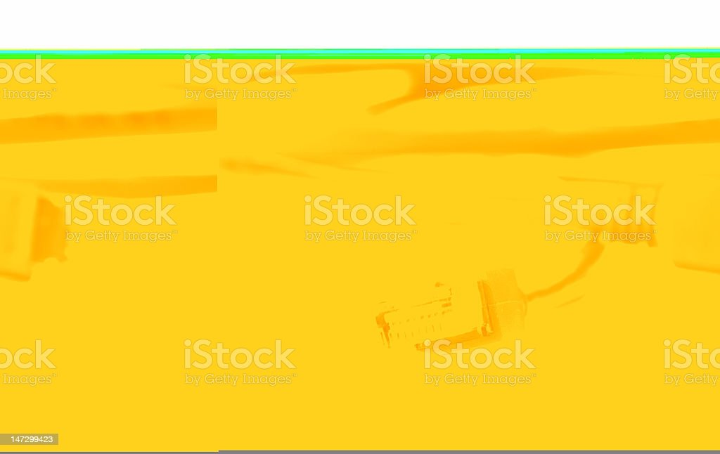 Red computer network cable on white background royalty-free stock photo