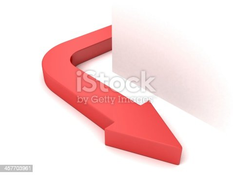 935214858istockphoto red concept arrow curved from white corner 457703961