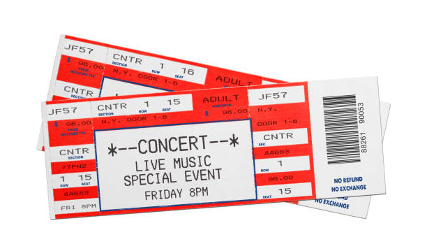 red concert tickets - ticket stock photos and pictures