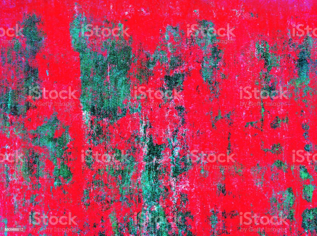 red concrete grunge green wall stock photo